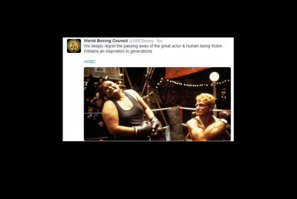 El mundo del boxeo también recordó al ganador del Oscar.