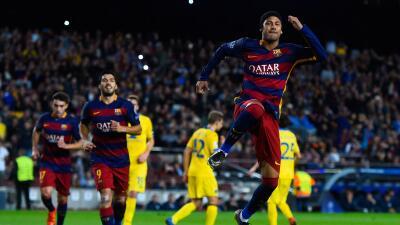 Neymar anotó dos goles en el triunfo blaugana