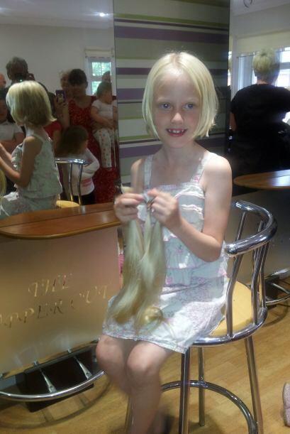Ella sabe que su cabello crecerá y probablemente lo vuelva a cortar pues...