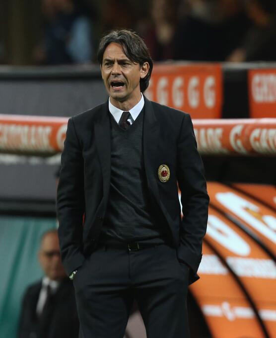 En la temporada 2014/2015, Filippo Inzaghi no pudo mudar su éxito como j...