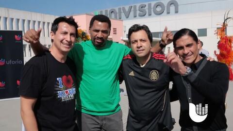 Paco Palencia y Adrián Chávez compartieron cancha con Omar Messi-Velasco...