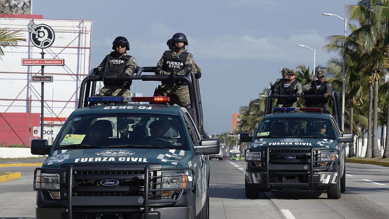 Fuerzas policiacas en Veracruz, México.