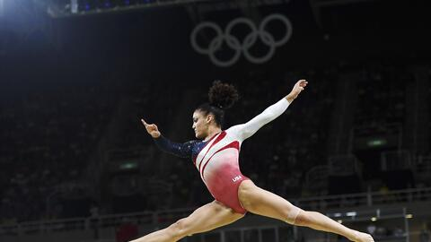 Laurie Hernandez competed in the team event, winning gold.