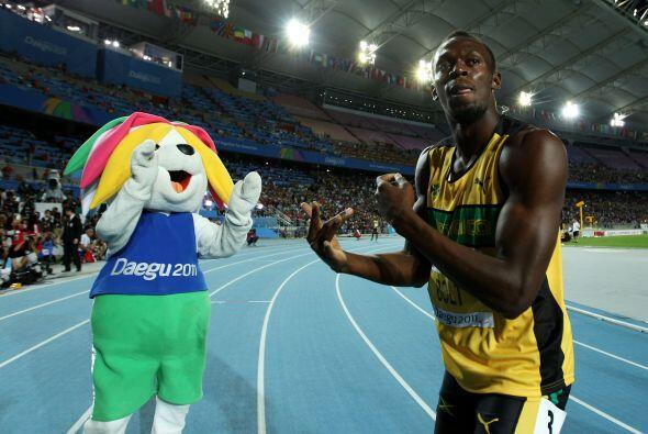 Bolt había sido descalificado por salida falsa en la final de 100 metros.