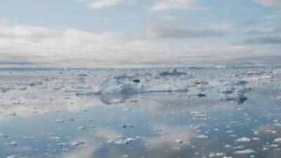 La capa de hielo en el Ártico ha caído a un nivel mínimo histórico, segú...