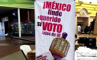 Campaña de promoción del voto de mexicanos en el exterior.