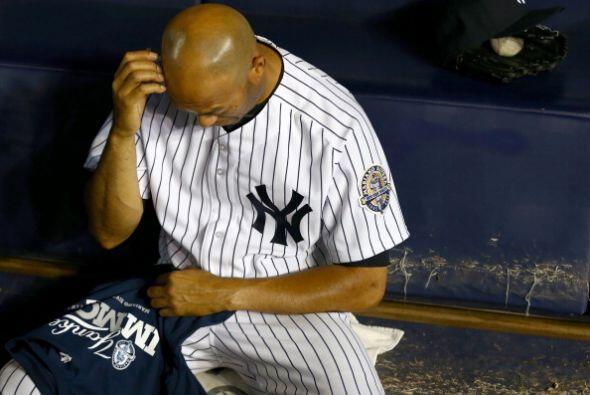 En el entreinning Mariano Rivera pudo ver por última vez un partido unif...