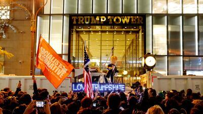En fotos: Las protestas contra la presidencia de Trump en los cuatro costados del país