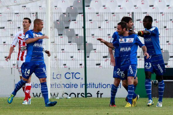 Jarjat convirtió el tanto para que su club venciera al Ajaccio en partid...