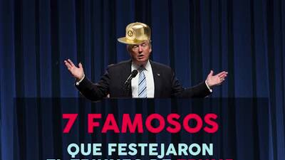 Los famosos que celebraron el triunfo de Trump