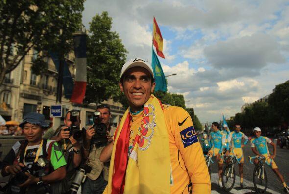 Contador se ha unido a un grupo extraordinario de deportistas españoles...