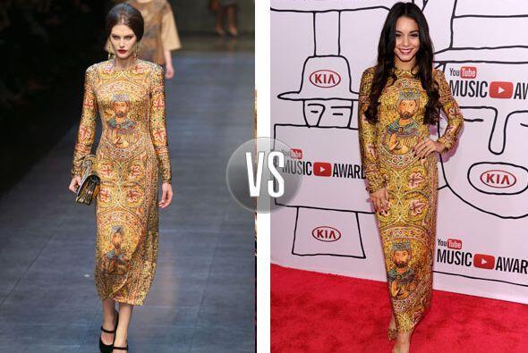 Este vestido de Dolce & Gabbana otoño-invierno 2013 se convir...