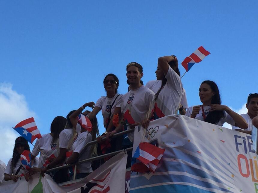 Puerto Rico se vistió de oro y le dio un recibimiento por todo lo alto a...