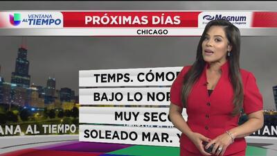 Temperaturas cómodas y condiciones secas, lo que se espera para este miércoles en Chicago