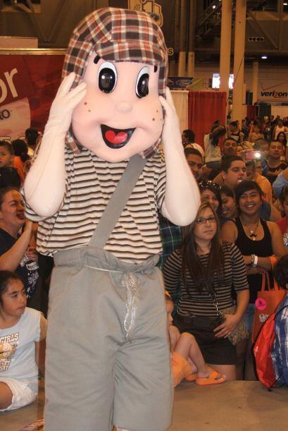 También nos encontramos con personajes como El Chavo del Ocho.