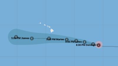 El poderoso huracán Héctor de categoría 4 se acerca a Hawaii