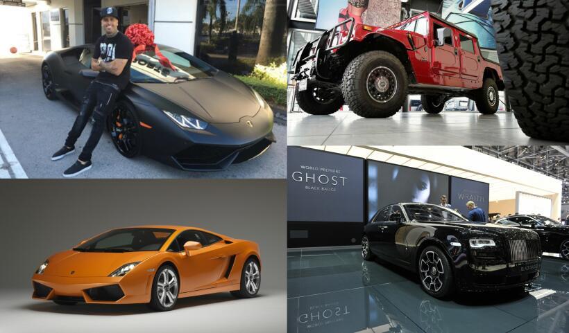 Los célebres cantantes de reguetón suelen conducir vehículos deportivos...