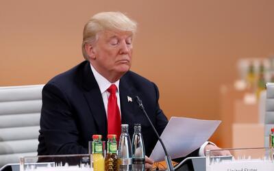 El presidente durante la cumbre del G-20 en Hamburgo, Alemania, en julio.