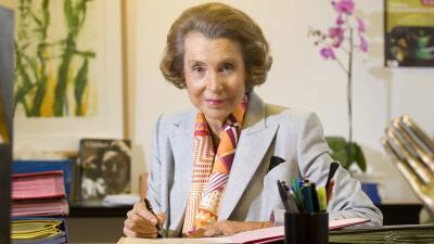 Liliane Bettencourt, heredera de la empresa L'Oréal, murió...