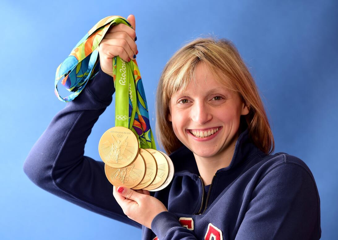 Katie Ledecky (Estados Unidos) - la nadadora Olímpica, cinco veces medal...