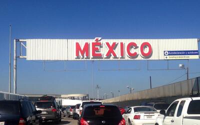 Cruce fronterizo hacia Tijuana, México.