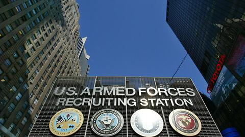 Centro de reclutamiento de las Fuerzas Armadas de Estados Unidos. (Image...