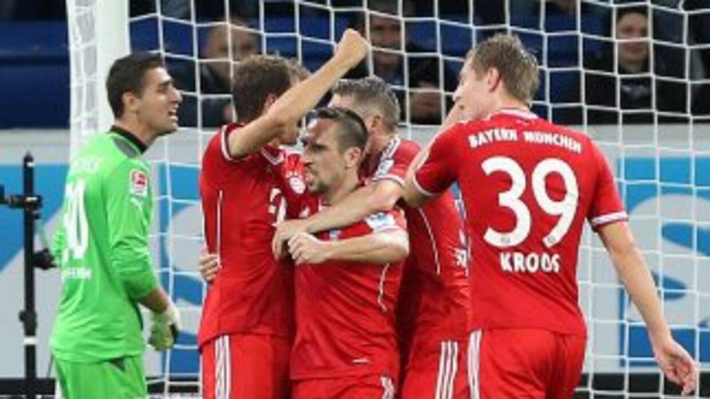 Thomas Muellerhizo el gol de la victoria del Bayern.