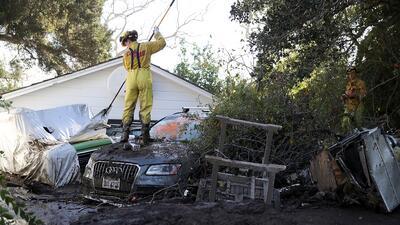 Imagen de archivo de los fuertes deslaves en Montecito que dejaron en en...