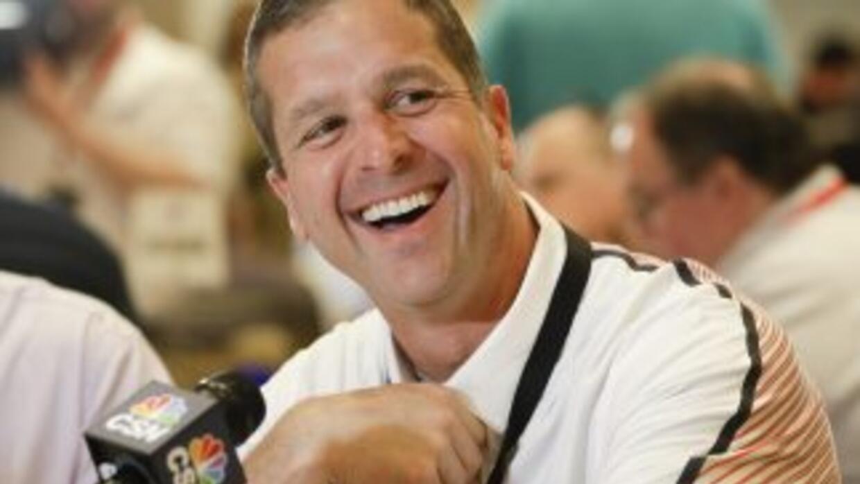 John Harbaugh está contento con Steve Smith (AP-NFL).