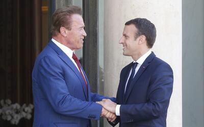 Macron y Schwarzenegger, dos de las figuras más críticas d...