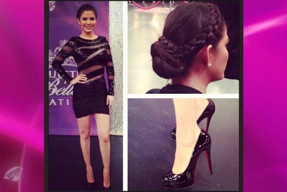 Clásica y glamorosa para una de las galas de Nuestra Belleza Latina. Sus...