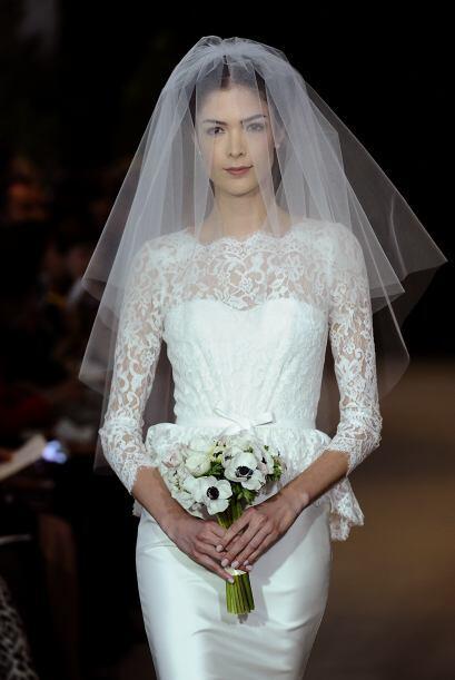 Este tipo de vestidos le dan a la novia un aire 'vintage'.