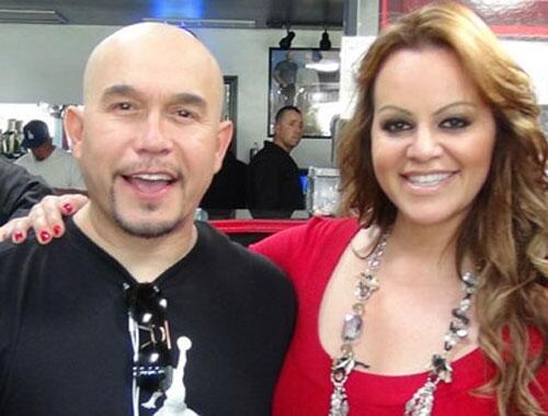 Jenni Rivera y su hermano Gustavo