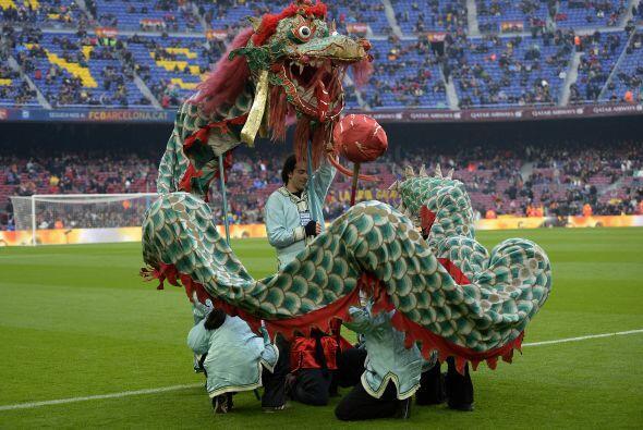 También hubo una pequeña celebración del inicio del año del perro chino.