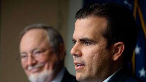 El gobernador de Puerto Rico, Ricardo Rosselló, en la presentación de lo...