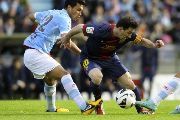 Messi fue de los pocos hombres fuertes del Barcelona que estuvo en el 11...