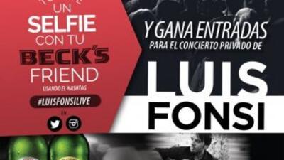 Sube una foto con tu amigo o amiga usando el hashtag #LuiFonsiLive y par...