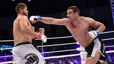 Ante Delija en el combate ante  Marcin Tybura,