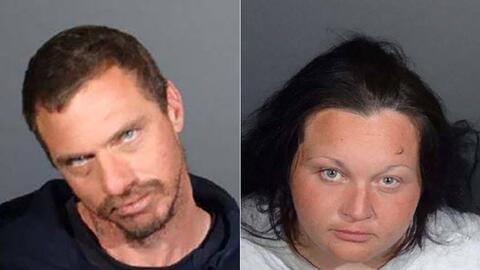 Vincent Calogero, de 38 años, y Sarah Nilson, de 32, fueron arres...