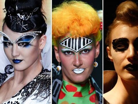 Este 'makeup' es tan extravagante que jamás podríamos usar...