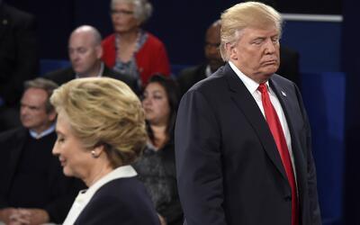 Hillary Clinton y Donald Trump, en el segundo debate presidencial