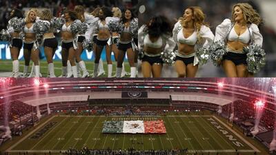 Las porristas de la NFL también se lucieron y mostraron su belleza en el estadio Azteca