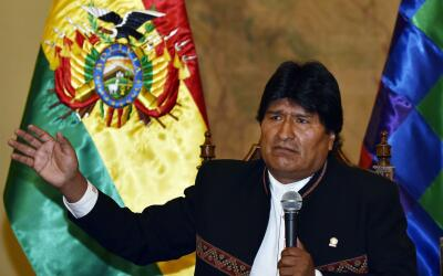 Morales en rueda de prensa