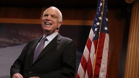 John McCain en una imagen de este jueves en el Congreso