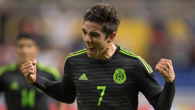 Rodolfo Pizarro, jugador del partido de México Vs Senegal