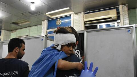 Un niño sirio herido en el atentado contra el autobús en e...