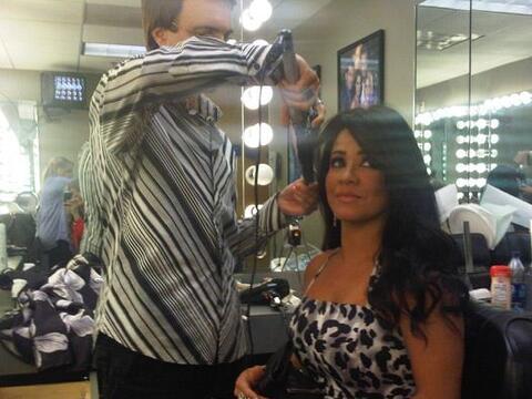 Carolina Sandoval llegó puntual a los estudios para ser maquillad...