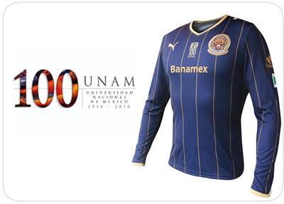 En la temporada 2010/2011 tuvo para los Pumas una playera conmemorativa...