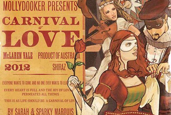 Mollydooker Shiraz McLaren Vale Carnival of Love, cosecha 2012 ocupa el...