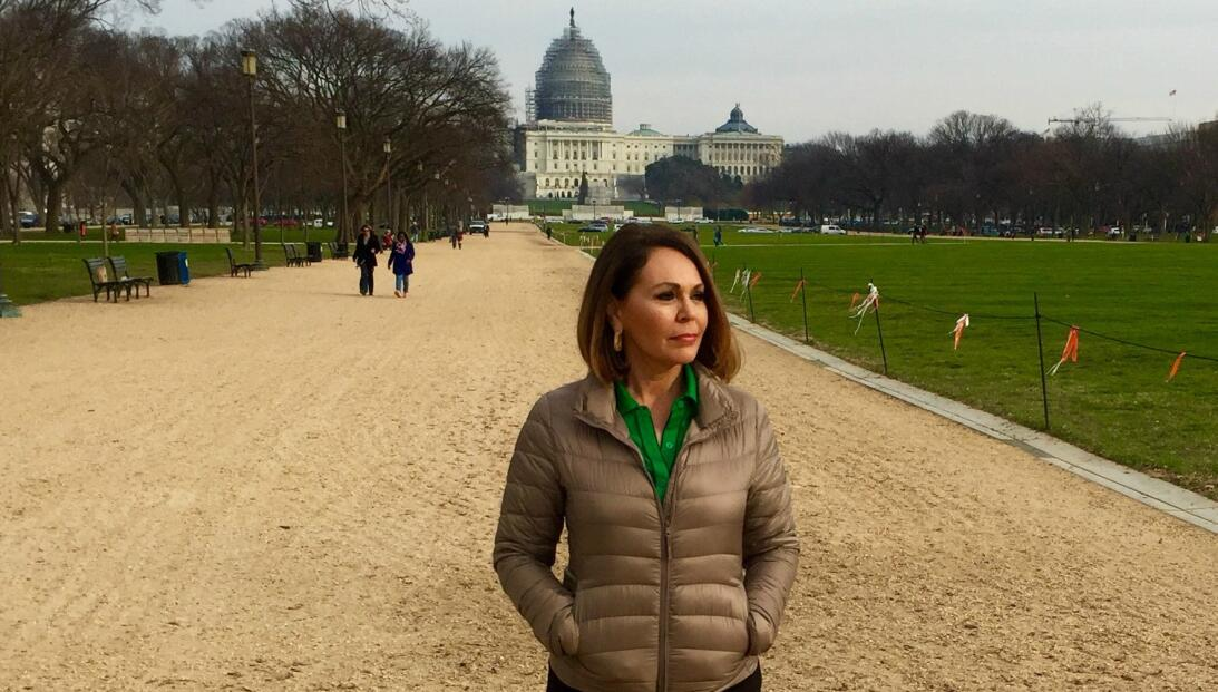 Maria Elena Salinas in Washington during filming of Latination
